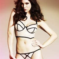 Elouise Cream Long Line Padded Bra