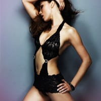 Lizzy Black Lace Body