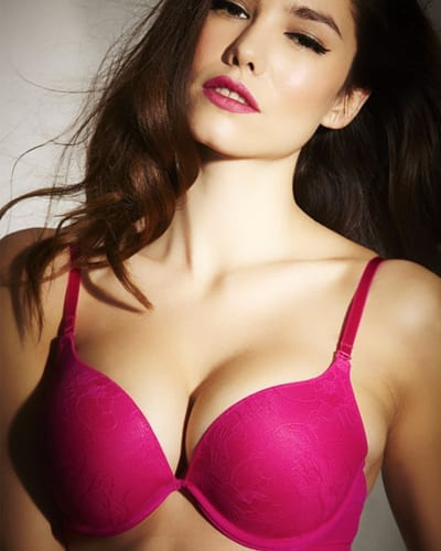 The Boost Cerise Padded Plunge Bra - £23.00