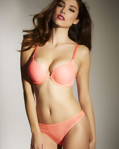 The Boost Coral Padded Plunge Bra - £23.00
