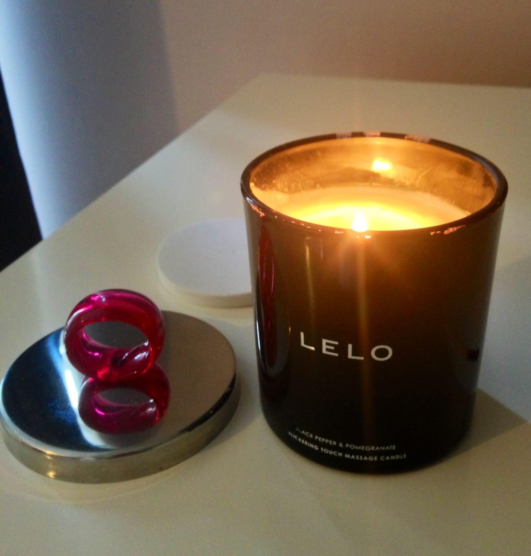 The LELO candle lit