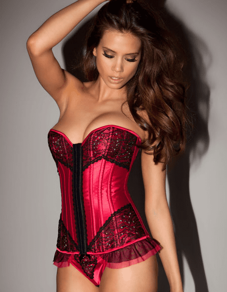 Queenie Red/Black Corset